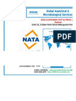 2019 Global Analytical & Microbiological Services Australia Price Book v 1.01
