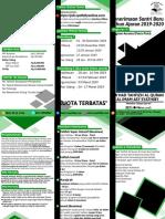 Flyer PSB Program Asrama 2019