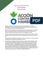propuesta para disminuir el hambre en mexico