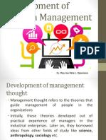 modern management development