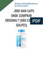 → Libid MAN Caps FUNCIONA Realmente? [NÃO Caia Em GOLPES, Veja ISSO]