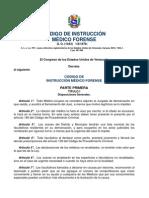 CODIGO INSTRUCCIÓN MEDICO FORENSE