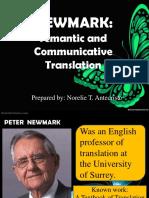 Peter Newmark- Translation