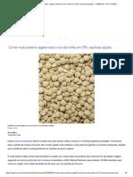 Comer Mais Proteína Vegetal Reduz Risco de Morte Em 13%; Veja Boas Opções - 31-08-2019 - UOL VivaBem