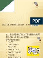 Lesson 2 Major Ingredients in Baking (1)