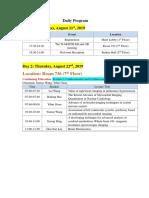 2019 ICRT Programme