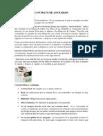 Resumen sobre Contrato de Anticresis en el Derecho civil Ecuatoriano