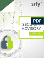 Security Advisory Issue 3