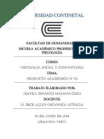PRODUCTO ACADEMICO Nº 01- Surgimiento de La Psicologia Social Comunitaria
