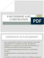 Partnership and Corporation
