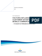 Factors Influence Customer Saticfaction