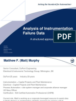 Analysis of Instrumentation Failure Data