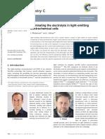 Illuminating the Electrolyte in Light-emitting