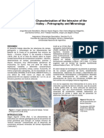 Mineralogical Characterization of the Intrusive of the San Antonio Valley – Petrography and Mineralogy