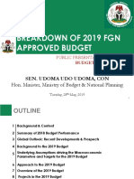 2019 Approved FGN Budget Breakdown Public Presentation - Final