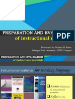 ENG 412 Preparation and Evaluation of Instructional Materials