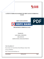 Credit Risk Management in HDFC Bank