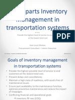 Spare Part Inventory Management