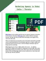 Whatsapp Marketing Agency in Dubai