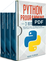 Python Programming 3 Books in 1 Ultimate Beginners, Intermediate
