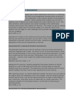 Types of Classroom Assessment