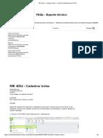 RM -EDU - Cadastrar Bolsa – Central de Atendimento TOTVS