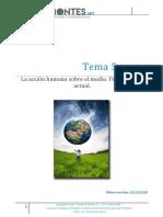 Tema 05 La Accion Humana Sobre El Medio Problematica Actual