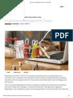 E-Commerce Management Course - Course Gate