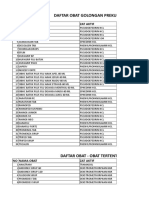 daftar prekursor dan oot