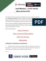 Maxima and Minima Gate Study Material in PDF 0f9b7b0a