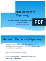 Research methods of Psychology