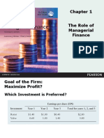 The Role of Managerial Finance - Pearson
