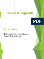 Clauses Fragments