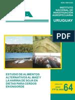 Estudio de alimentos alternativos al maíz y harina de soya