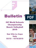 Bulletin 1 - Wsc Beach Volleyball 2019-0-0