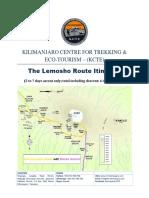The Lemosho Route KILIMANJARO  itinerary.pdf