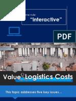 Value and Logistics Costs - Junnel Camingawan, MSIEM PUP-Graduate School