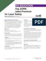 Aorn Laser Safety