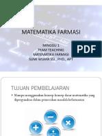Matematika Farmasi - Minggu 1