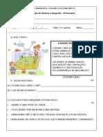 Prova de Geografia e História - Bairro (1)