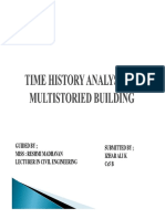Time History Analysis of Multistoried Building f