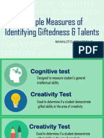 Multiple Measurement of Identifying Giftedness and Talents