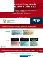 Spatial Industrial Policy Special Economic Zones and Cities in South Africa