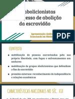 Apresentação regência - LEIS ABOLICIONISTAS