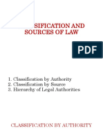 Gopo - Classification and Sources of Law (1)