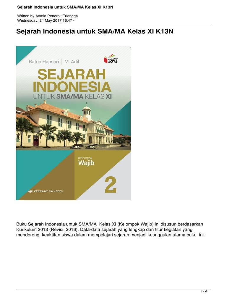 Sejarah Indonesia Untuk Smama Kelas Xi K13n Pdf