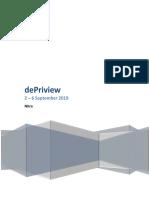 dePriview 2 - 6 September 2019