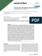 Hereditary Sensory and Autonomic Neuropathies