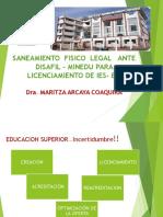 SANEAMIENTO FÍSICO LEGAL