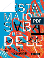 Programa de Festa Major Sabadell 2019